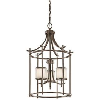 Hampton Bay 3 Light Mission Bronze Hanging Foyer 89564