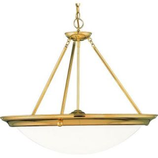 Progress Lighting Eclipse Collection 4 Light Polished Brass Foyer Pendant P3575 10