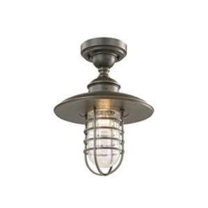 Hampton Bay Dual Purpose 1 Light Outdoor Oil Rubbed Bronze Pendant or Flushmount Lantern DYX1701A