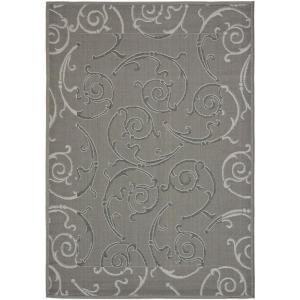 Safavieh Courtyard Anthracite/Light Grey 4 ft. x 5.6 ft. Area Rug CY7108 87A5 4