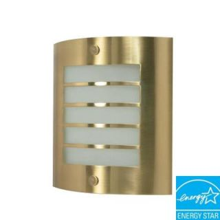 Glomar Green Matters 1 Light Brushed Brass Wall Sconce HD 945