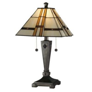 Dale Tiffany Atherton 21.75 in. Mica Bronze Art Glass Table Lamp TT11051