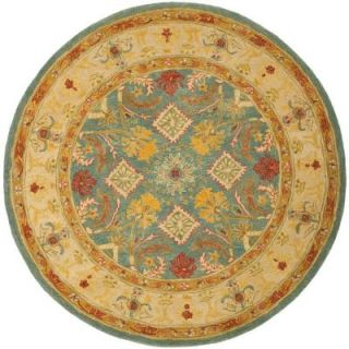 Safavieh Anatolia Light Blue/Ivory 4 ft. x 4 ft. Round Area Rug AN544D 4R
