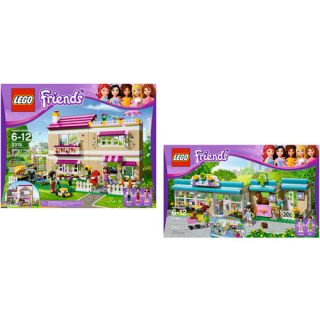 LEGO Friends Olivias House & LEGO Friends Heartlake Vet Bundle Building Sets & Blocks