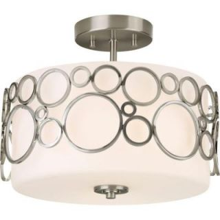 Progress Lighting Bingo Collection 2 Light Brushed Nickel Semi Flush Mount P3741 09