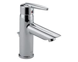 Delta 585LFMPU Bathroom Faucet, Grail TwoHandle Metal PopUp Drain Widespread, LeadFree Chrome
