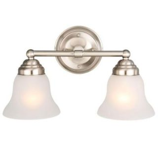 Hampton Bay 2 Light Brushed Nickel Vanity EGM1392A 3/BN