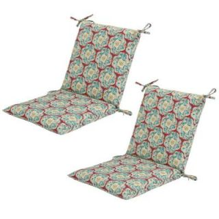Hampton Bay Monaco Medallion Mid Back Outdoor Chair Cushion (2 Pack) 7410 02000700
