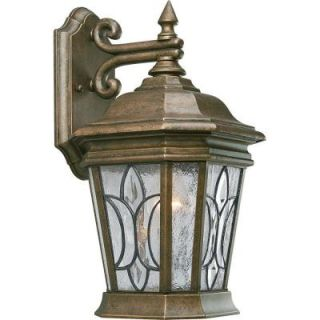 Progress Lighting Cranbrook Collection 1 light Burnished Chestnut Wall Lantern P5658 86