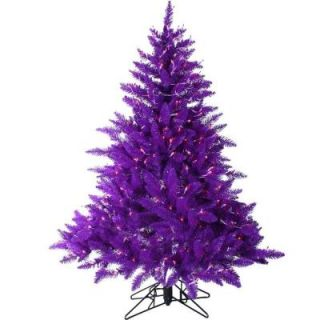 Sterling, Inc. 4.5 ft. Pre Lit Purple Artificial Ashley Christmas Tree with Purple Lights 6106 45PR