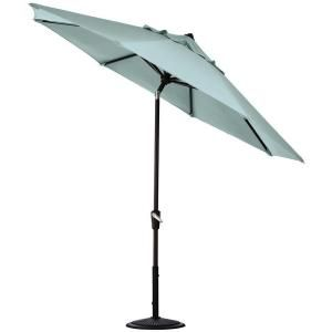 Home Decorators Collection 6 ft. Auto Tilt Patio Umbrella in Mist Sunbrella with Black Frame 1548730340
