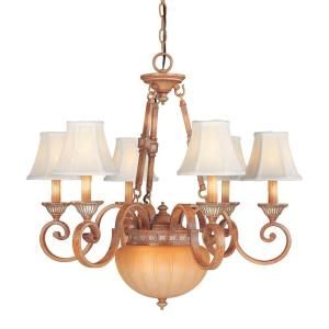 Hampton Bay 8 Light Hanging Tuscan Patina Chandelier DISCONTINUED HD340136
