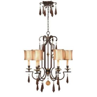 World Imports Turin 6 Light Hanging Euro Bronze Chandelier WI764629