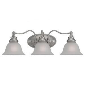 Sea Gull Lighting Canterbury 3 Light Brushed Nickel Vanity Fixture   DISCONTINUED 44652 962