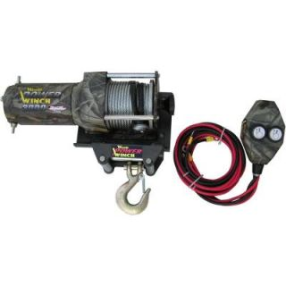 WOOD POWER WINCH Heavy Duty 3000 LB. ATV Winch WWRT3000HW