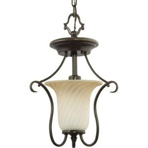 Progress Lighting Kensington Collection Forged Bronze 1 light Semi flushmount P3678 77