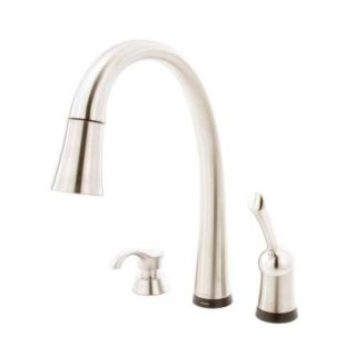 Delta Pilar Single Handle Pull Down Sprayer Kitchen Faucet in Stainless Steel with Touch2O Technology 980T SSSD DST