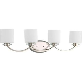 Thomasville Lighting Nisse Collection Polished Nickel 4 Light Vanity Fixture P2015 104