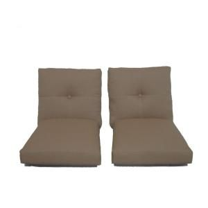 Hampton Bay Westbury Replacement Outdoor Deep Seating Lounge Chair Cushion (2 Pack) S2CUSH ACQ07900