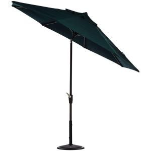 Home Decorators Collection 6 ft. Auto Tilt Patio Umbrella in Forest Green Sunbrella with Black Frame 1548730640