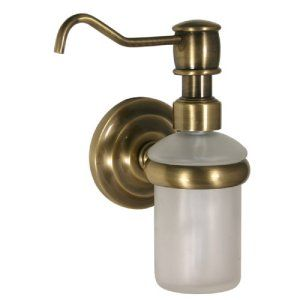 Allied Brass PQN 60 BBR Brushed Bronze Prestige Que New Wall Mounted Soap Dispen