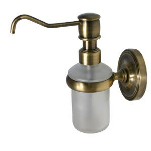 Allied Brass PR 60 BBR Brushed Bronze Universal Wall Mounted Soap Dispenser