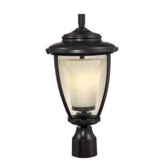 Hampton Bay Stockholm Outdoor Satin Bronze Post Lantern Y7064 34