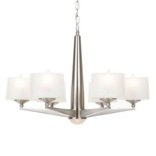 Hampton Bay Architect Collection 7 Light Brushed Nickel Chandelier HB471469DI