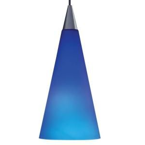 Juno 1 Light Hanging Mini Pendant with Cobalt Shade PKH312COBALT