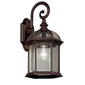 Hampton Bay Wall Mount 1 Light Outdoor Rust Lantern (2 Pack) 1000 014 557