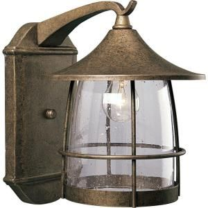 Progress Lighting Prairie Collection Burnished Chestnut 1 light Wall Lantern P5764 86