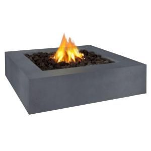 Real Flame Mezzo 42 in. Square Flint Gray Propane Gas Fire Pit 9670LP FG
