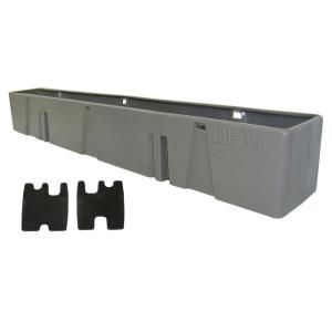 Light Gray Behind the Seat Storage Unit (Fits Chevrolet and GMC 1500 Light Duty Crew Cab 2004   2007) 10030