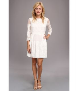 DV by Dolce Vita Stretch Lace 3/4 Sleeve Dress Womens Dress (Neutral)