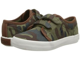Polo Ralph Lauren Kids Ethan Low EZ Boys Shoes (Olive)