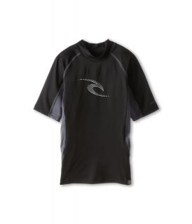 Rip Curl Kids Wave S/S Rashguard Boys Swimwear (Black)