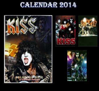 KISS 2014 CALENDAR + 3 KISS FRIDGE MAGNETS   Wall Calendars