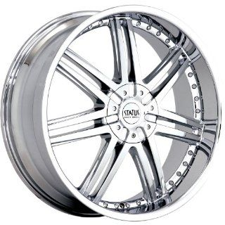 Status Game 20 Chrome Wheel / Rim 5x100 & 5x4.5 with a 35mm Offset and a 73.1 Hub Bore. Partnumber S805KJ5BF35C73 Automotive