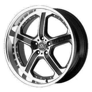 Lorenzo WL021 18x8 Black Wheel / Rim 5x112 with a 32mm Offset and a 66.56 Hub Bore. Partnumber WL02188057732 Automotive
