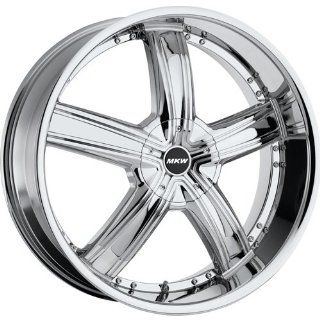 MKW M103 18 Chrome Wheel / Rim 5x4.5 & 5x120 with a 40mm Offset and a 74.10 Hub Bore. Partnumber M103 1875001440C Automotive