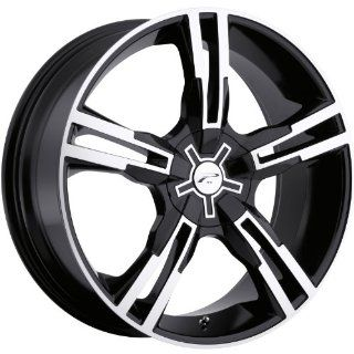 Platinum Saber 16 Black Wheel / Rim 5x112 & 5x120 with a 42mm Offset and a 74 Hub Bore. Partnumber 292 6722B Automotive