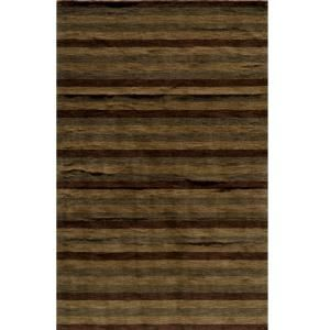 Momeni City Life Collection Brown 5 ft. x 8 ft. Area Rug METROMT 13BRN5080