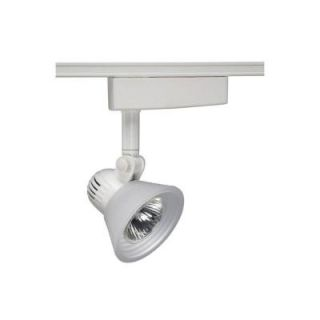Juno Trac Lites Low Voltage White Track Light with Opal Frost Step Glass R704WH