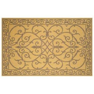 Trans Ocean Terrace Wrought Iron Indoor/Outdoor Rug   Natural Decor