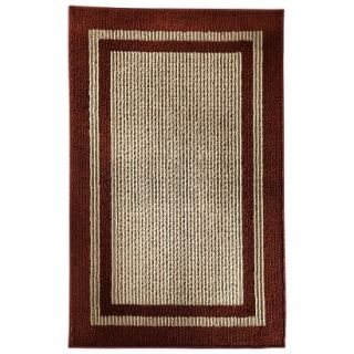 Mohawk Home Sisal Accent Rug   Red (26x310)
