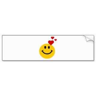 Smiley in Love Bumper Sticker