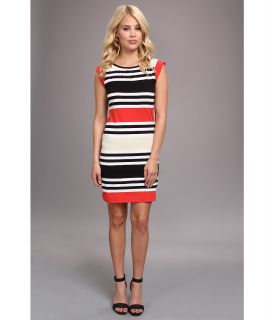 French Connection Multi Jag Stripe Sleeveless Dress Womens Dress (Multi)
