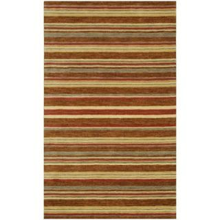 BASHIAN Contempo Collection Stripes Red Multi 2 ft. 6 in. x 8 ft. Area Rug S176 MULTI 2.6X8 ALM76