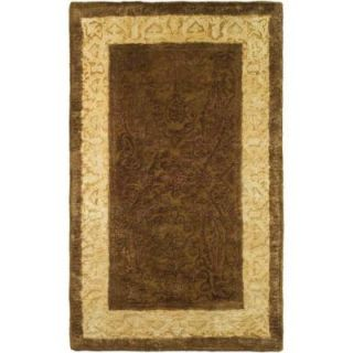 Safavieh Silk Road Chocolate and Light Gold 2 ft. x 3 ft. Accent Rug SKR211A 2
