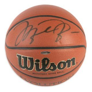 Michael Jordan Signed Basketball   Wilson Evolution   Mounted Memories Certified   Autographed Basketballs at 's Sports Collectibles Store